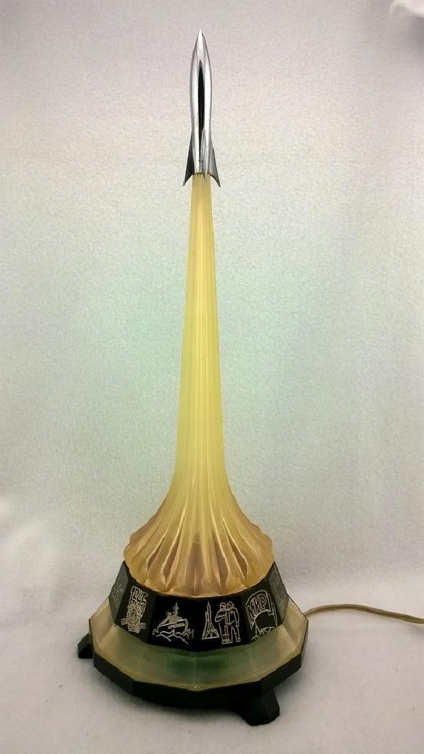 Vintage Night Lamp Rocket - 8