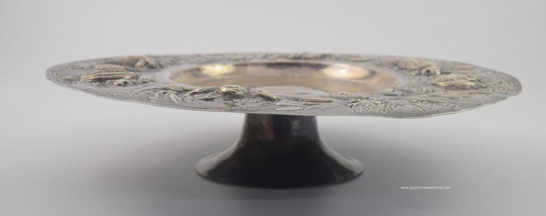 Antique Centerpiece Peruvian Sterling Silver Tray