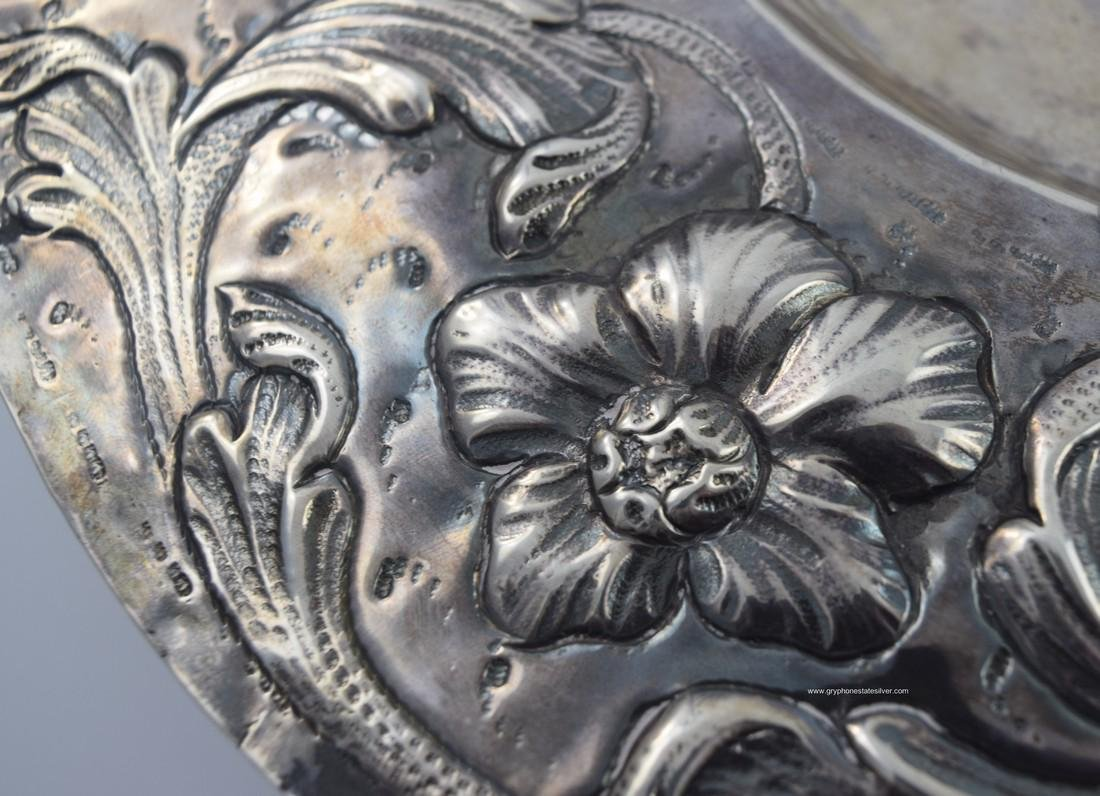 Antique Centerpiece Peruvian Sterling Silver Tray - 2
