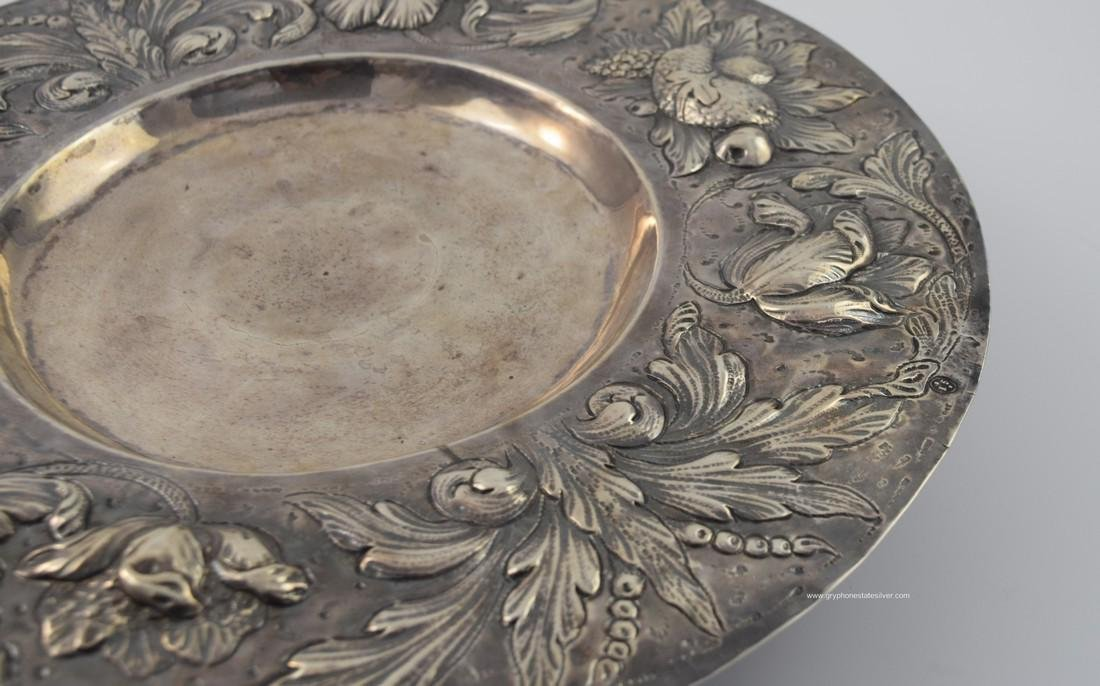 Antique Centerpiece Peruvian Sterling Silver Tray - 6