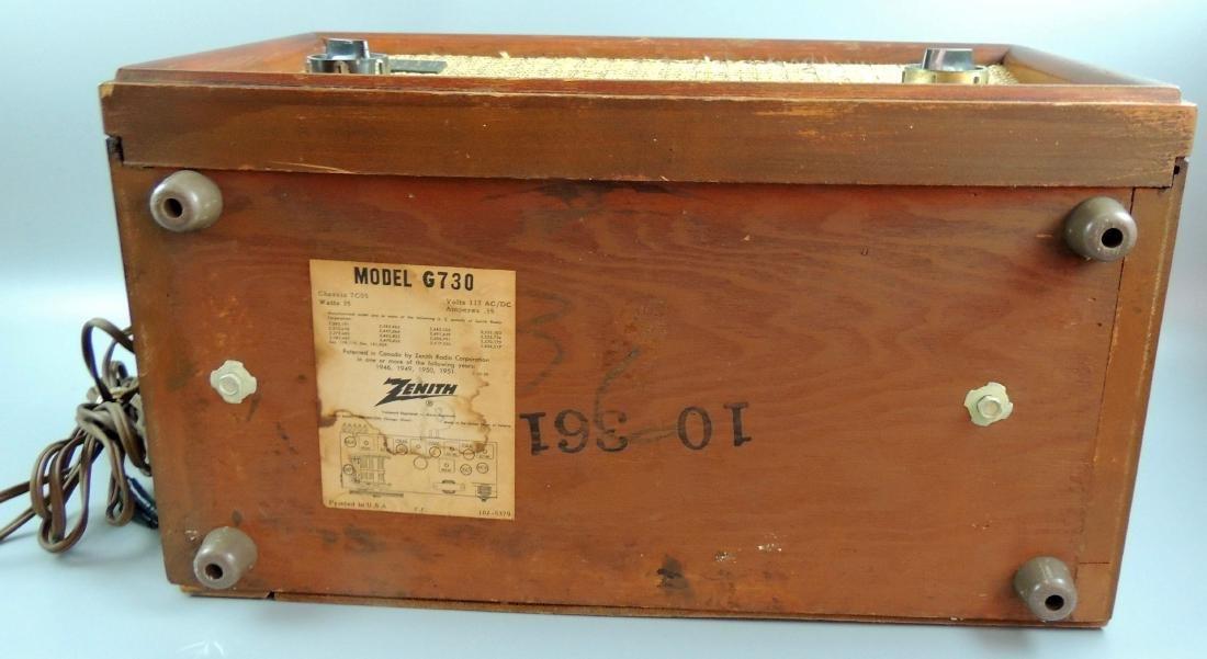 Zenith Long Distance AM/FM Tube Radio, M- G730, 1950's - 8
