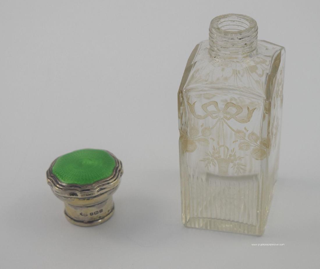 Antique Valise Enamel Sterling Vanity Set, by Adie Bros - 10