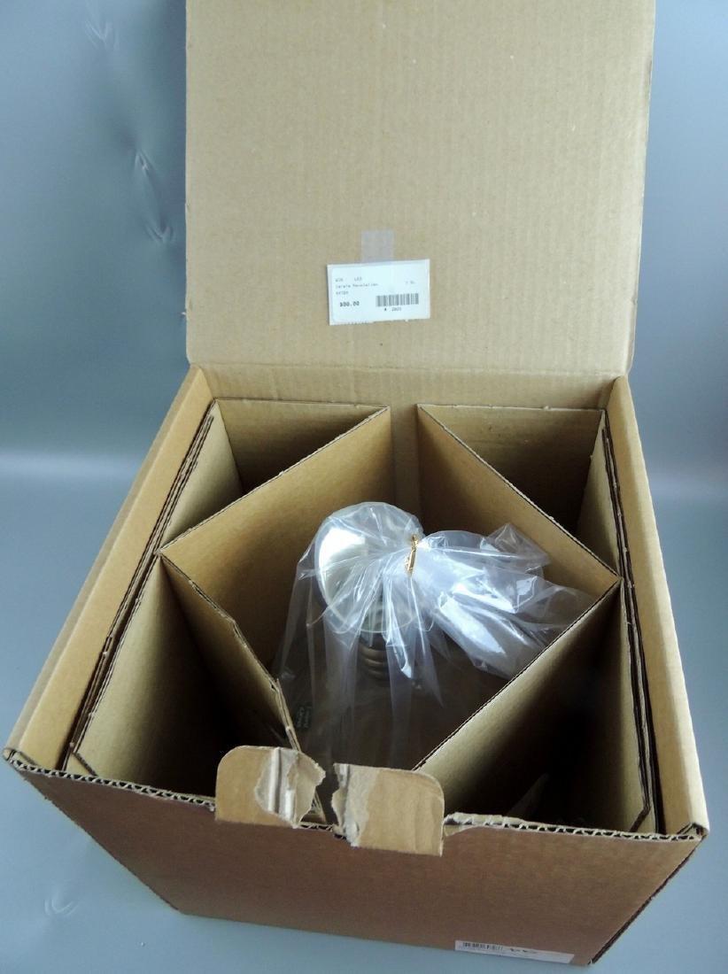 L'esprit & Levin Crystal Glass Carafe Silver Pourer - 2