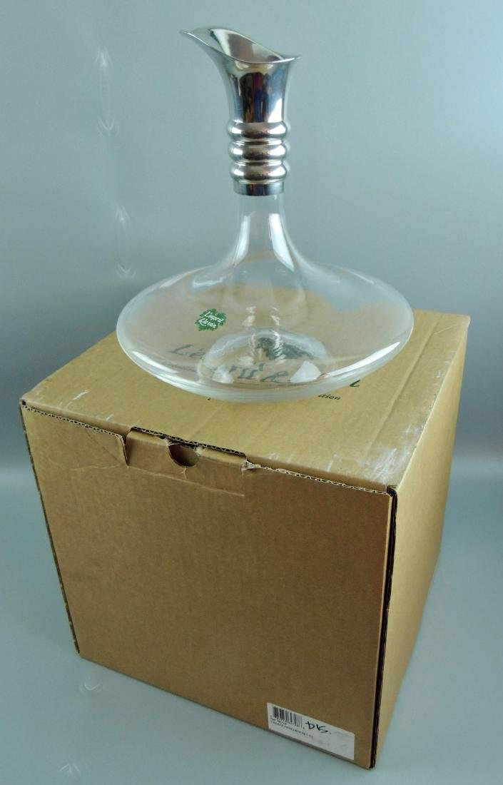 L'esprit & Levin Crystal Glass Carafe Silver Pourer - 4