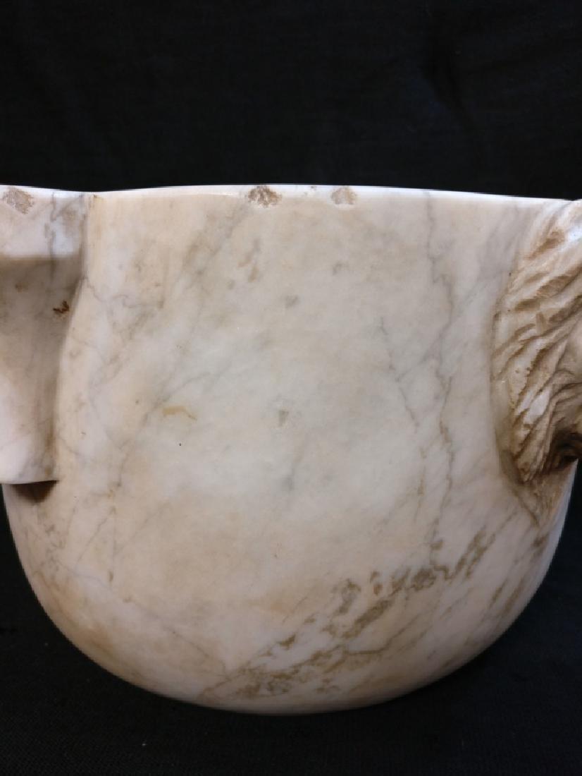 Pharmacy mortar in Carrara Calacatta marble - 7