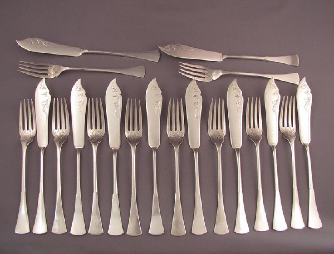 Austrian Silver Fish Set