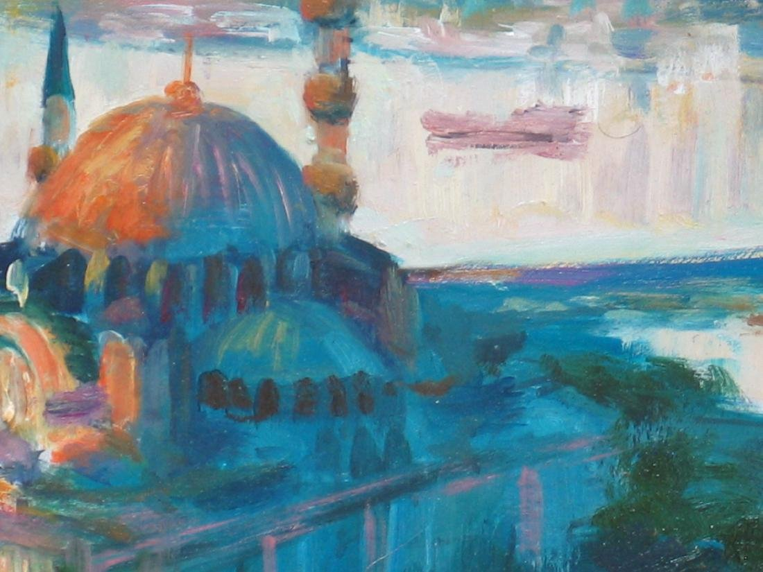 Nino Pippa Istanbul Painting of Suleymanyie Mosque - 2