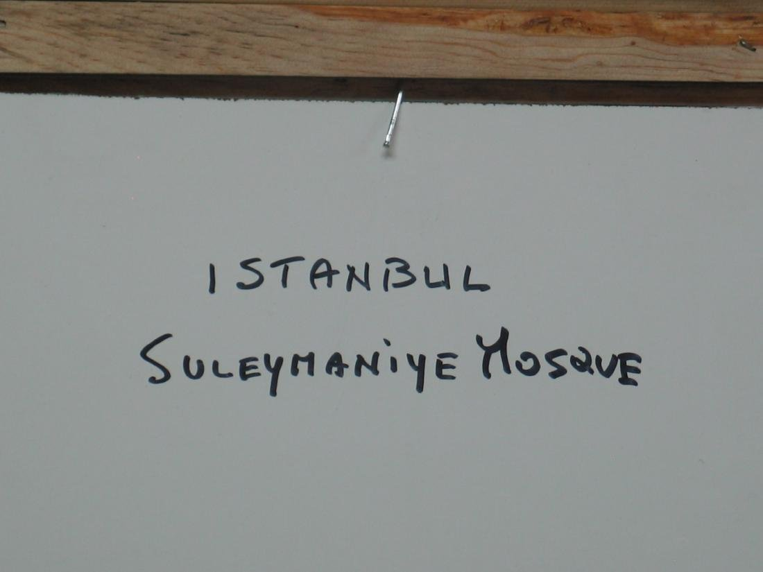 Nino Pippa Istanbul Painting of Suleymanyie Mosque - 4