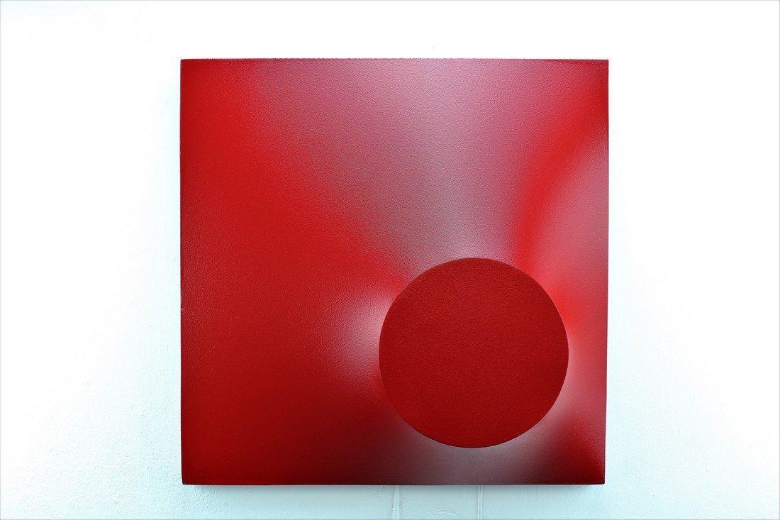 Alessandro Butera Painting Dark Red - 3