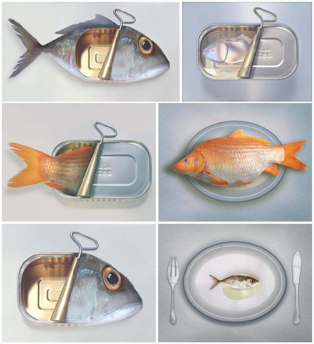 ART GRAFTS Print Surreal Fishions Folio