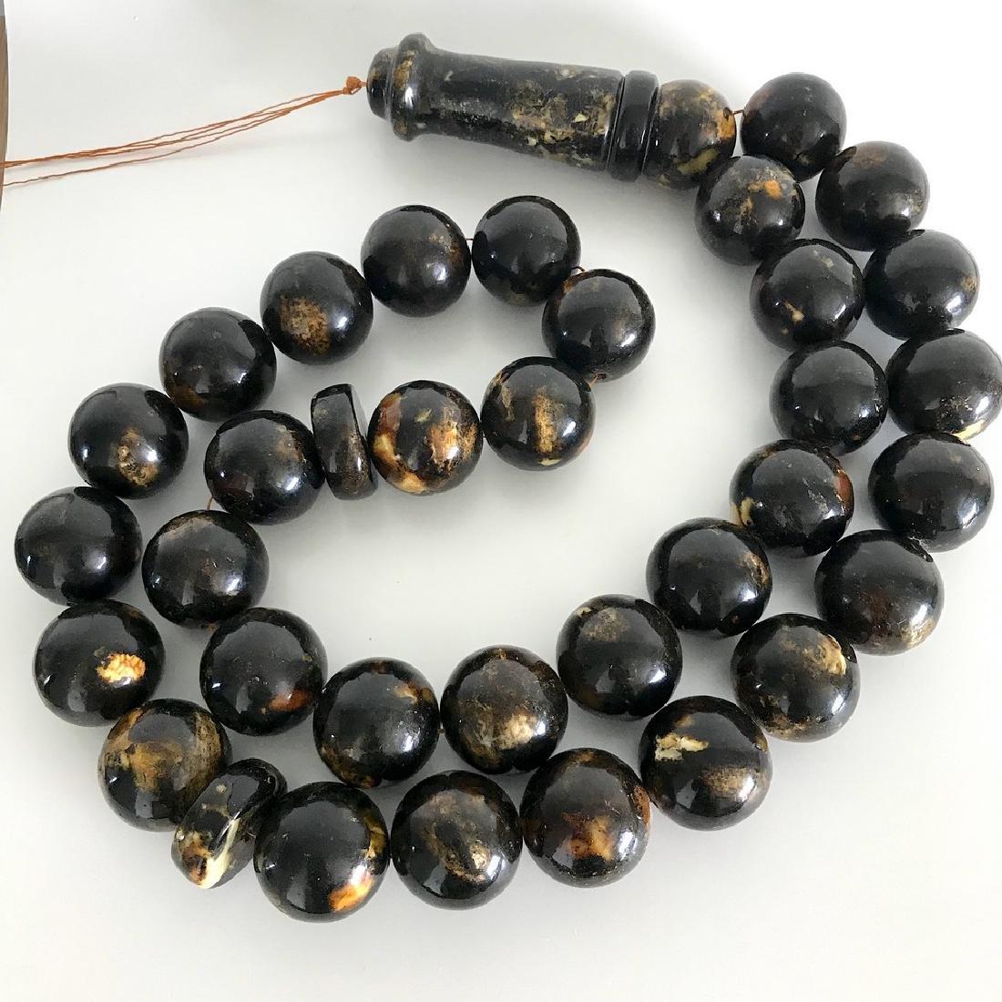 Rare exclusive size 2kg Baltic amber tesbih beads ø45 - 3