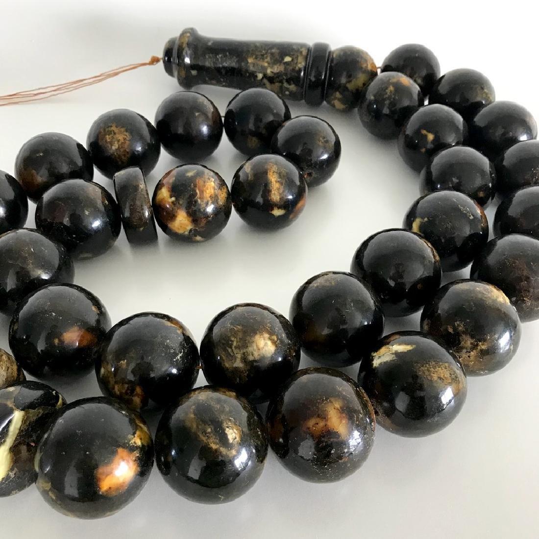 Rare exclusive size 2kg Baltic amber tesbih beads ø45 - 4