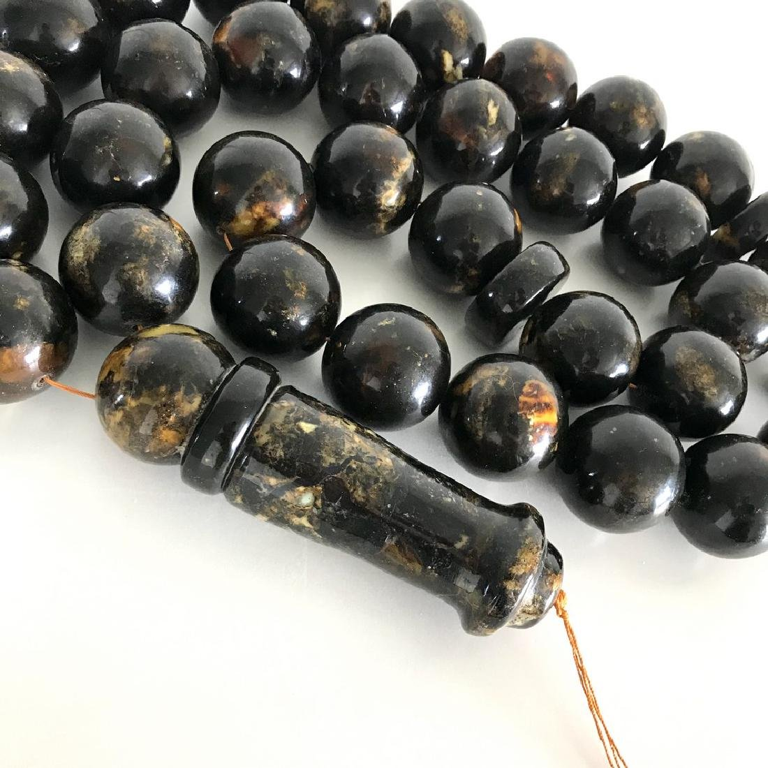 Rare exclusive size 2kg Baltic amber tesbih beads ø45 - 5