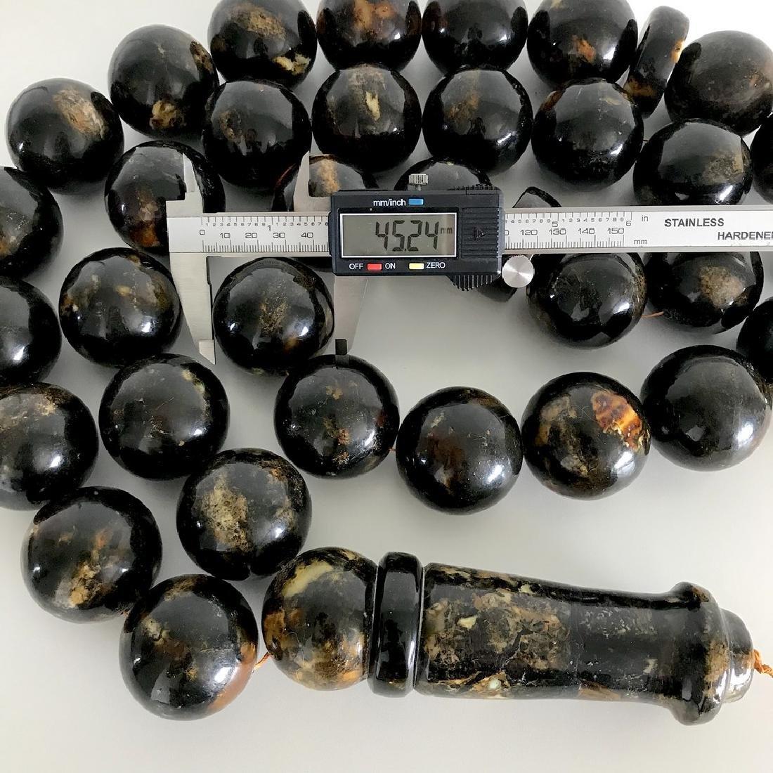 Rare exclusive size 2kg Baltic amber tesbih beads ø45 - 7