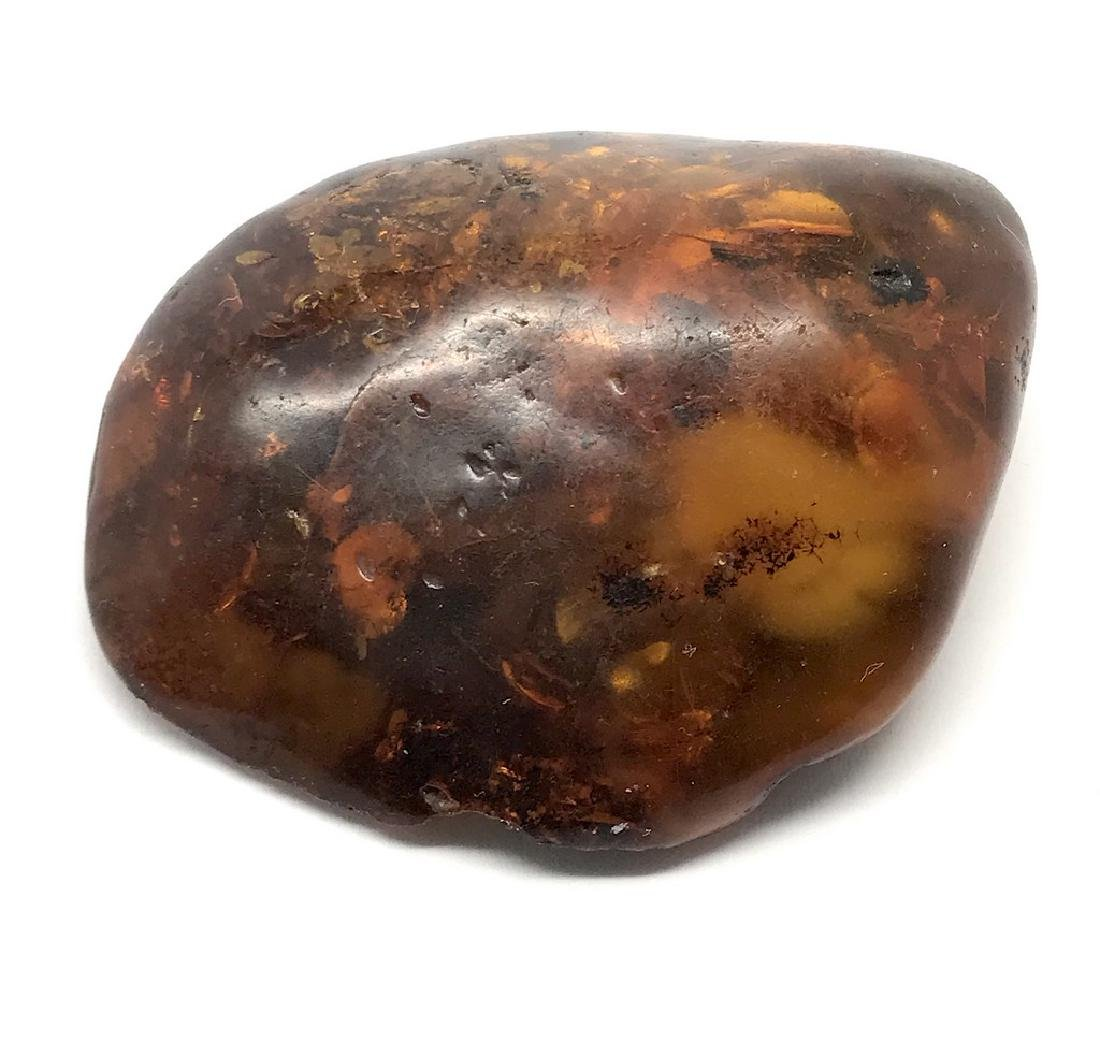 Old Baltic amber brooch cognac colour 26.4 gr - 8