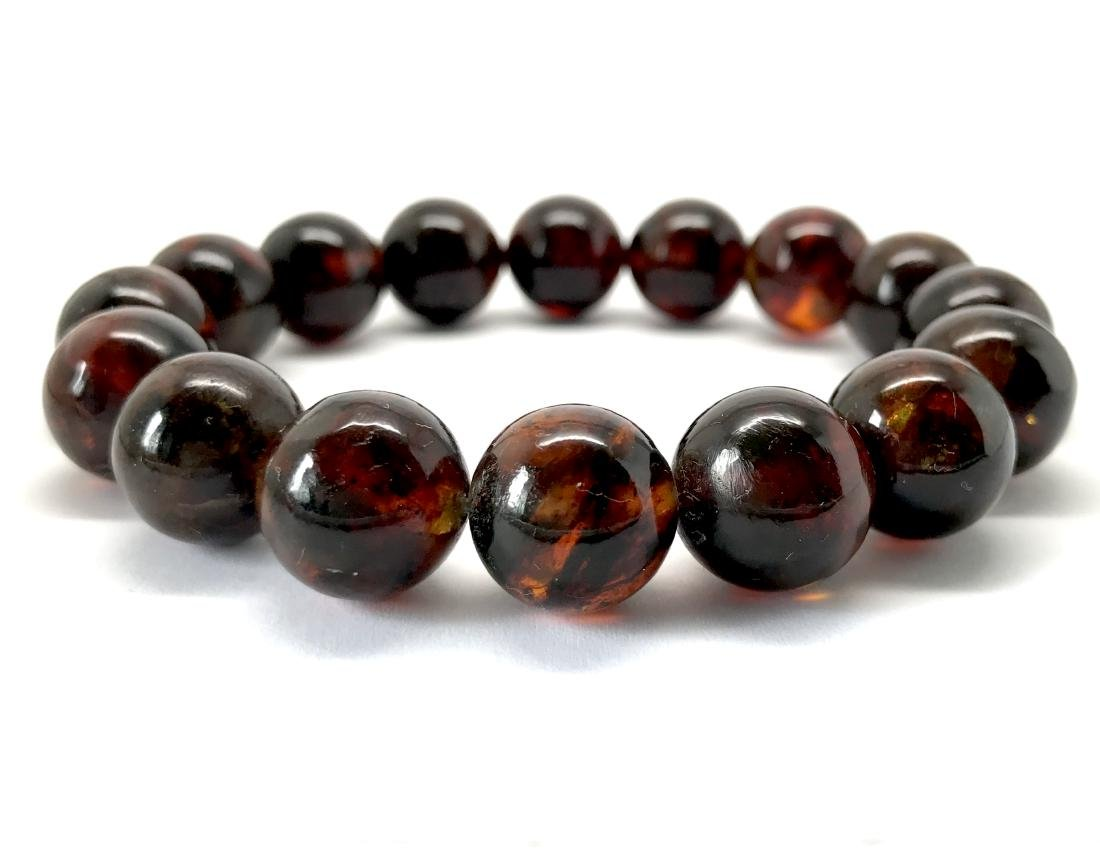 Baltic Amber Bracelet Dark Cognac Colour Beads