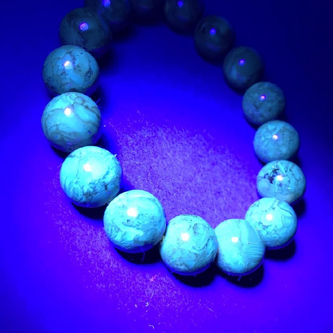 Baltic Amber Bracelet Dark Cognac Colour Beads - 8