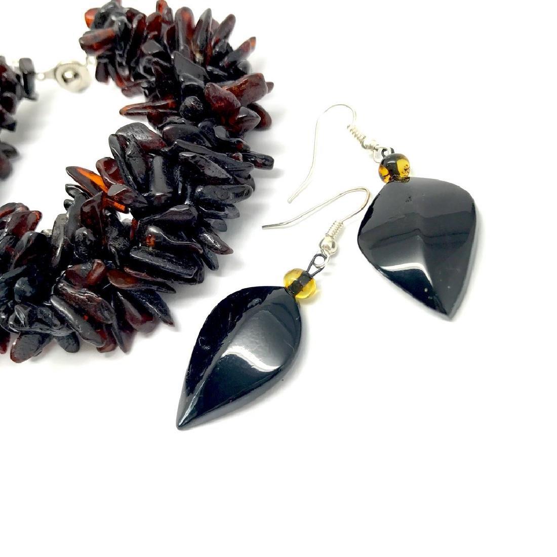 Vintage Baltic amber cherry bracelet & earrings 36.2 - 3