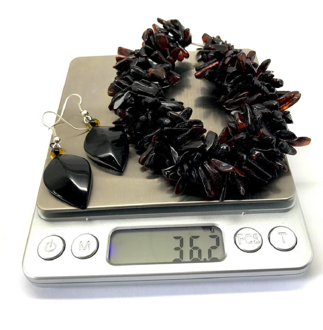 Vintage Baltic amber cherry bracelet & earrings 36.2 - 7