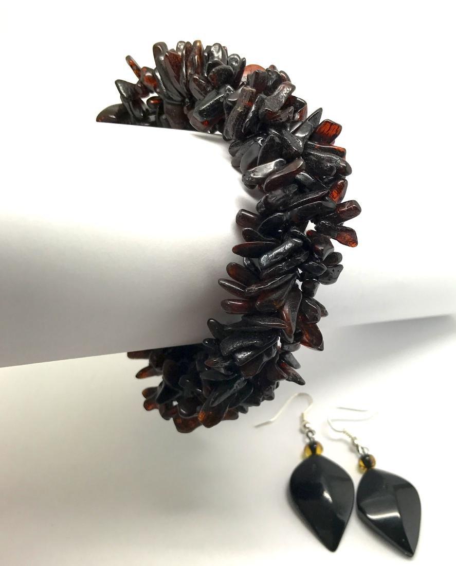 Vintage Baltic amber cherry bracelet & earrings 36.2 - 8