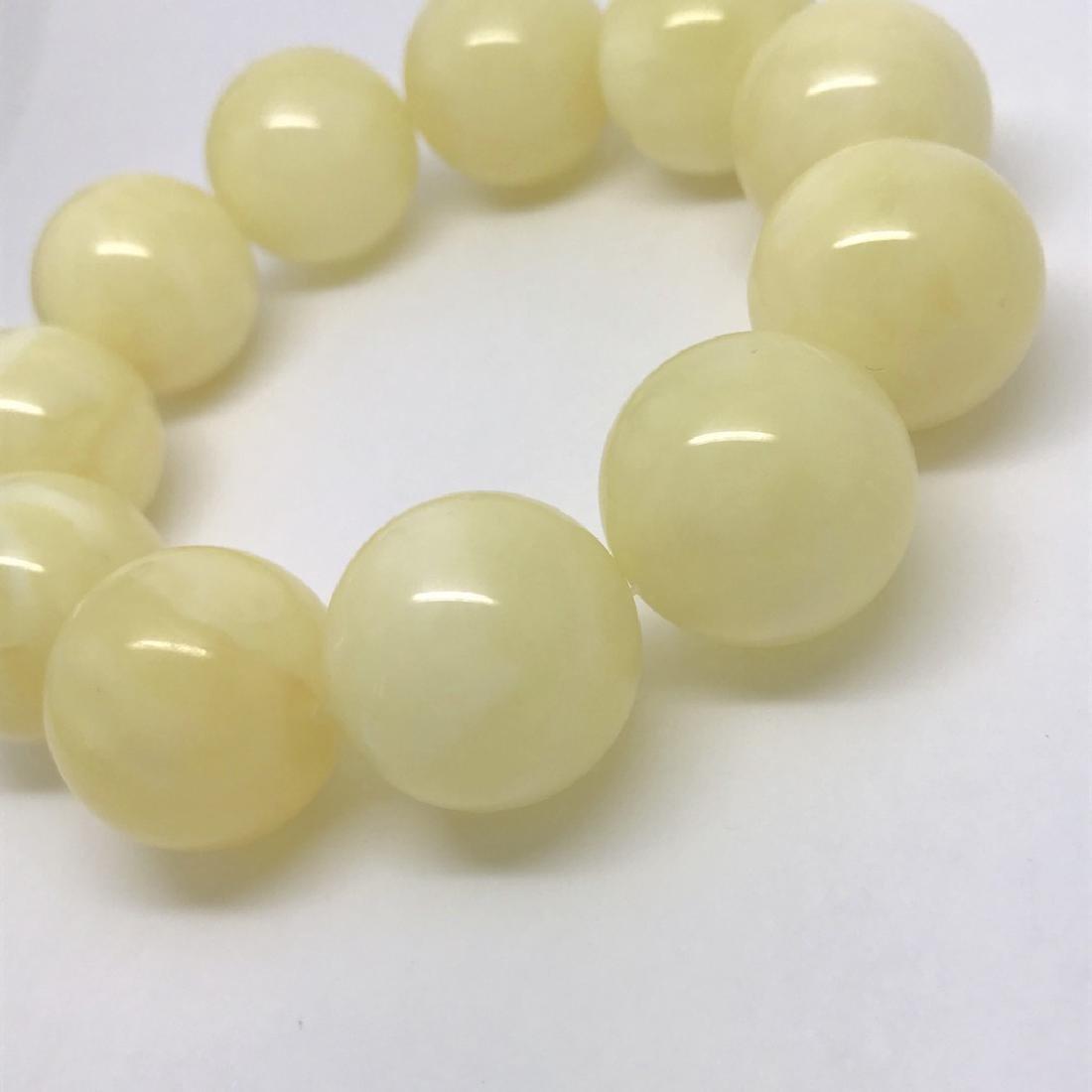 Baltic amber Bracelet 40.5g big butter beads ø18.6mm - 4