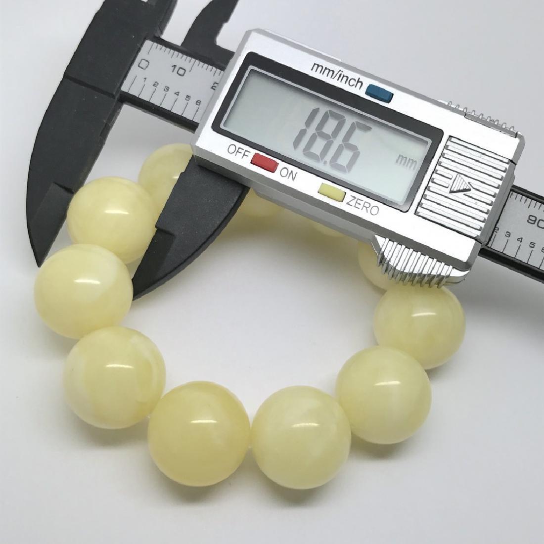 Baltic amber Bracelet 40.5g big butter beads ø18.6mm - 5