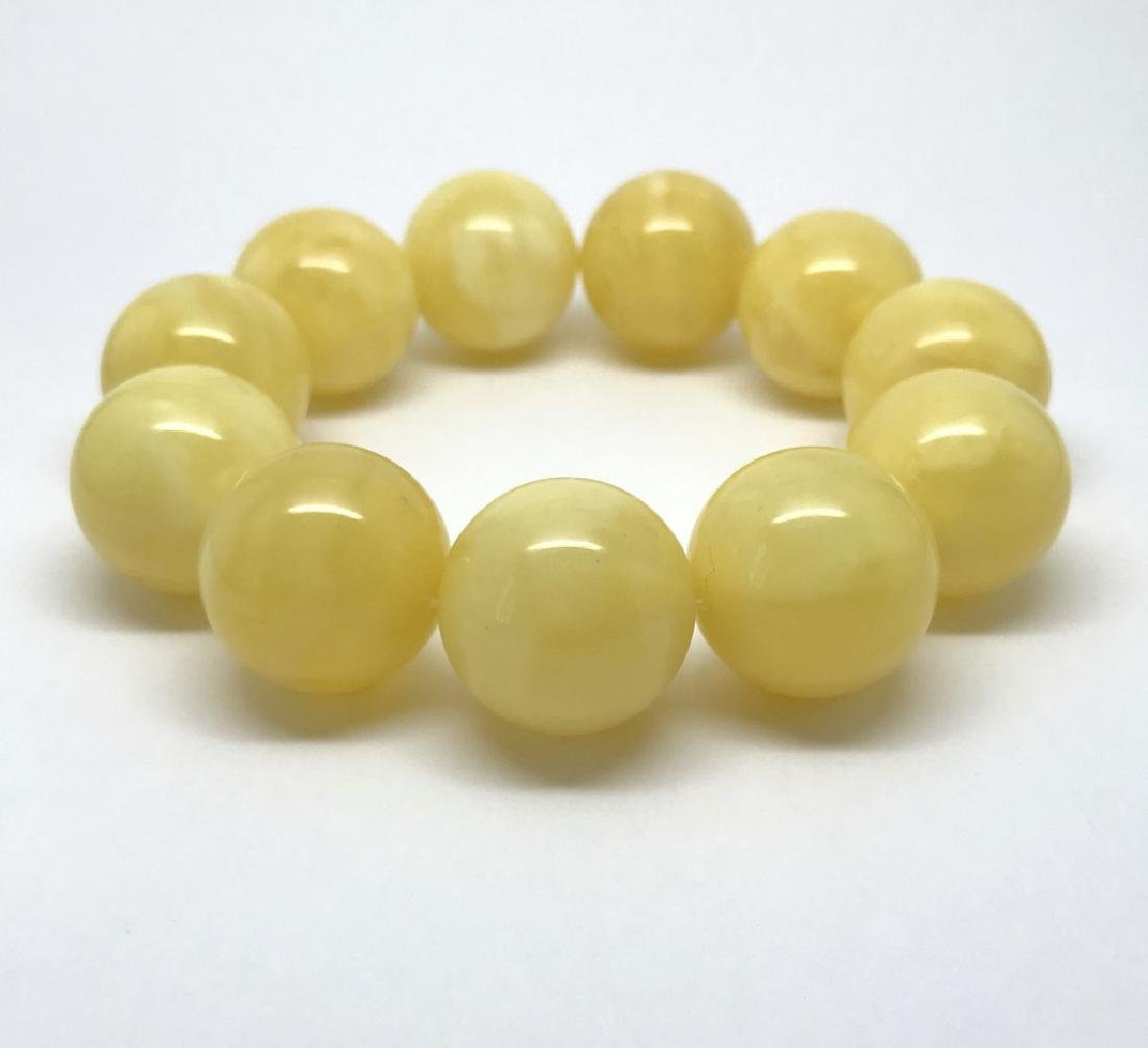 Baltic amber Bracelet 47g big butter beads ø19.6mm