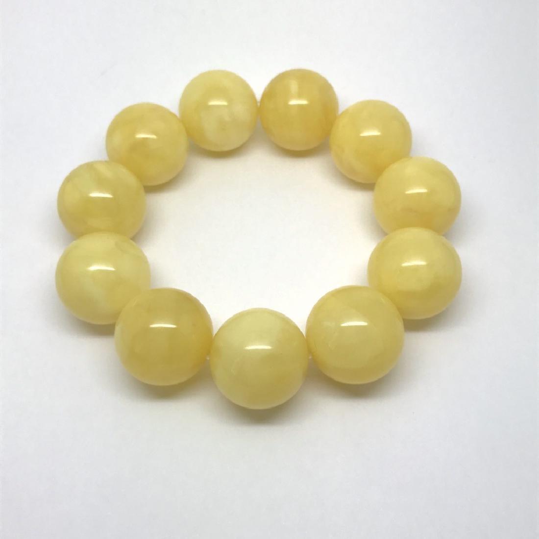 Baltic amber Bracelet 47g big butter beads ø19.6mm - 2