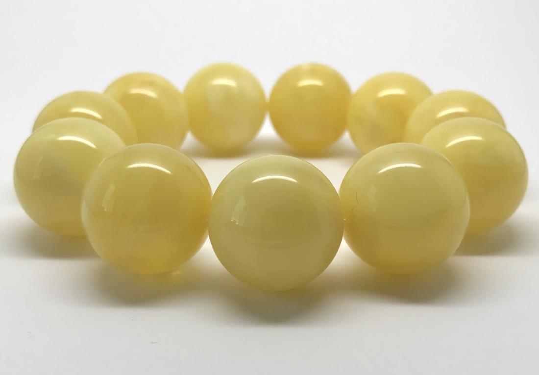 Baltic amber Bracelet 47g big butter beads ø19.6mm - 3