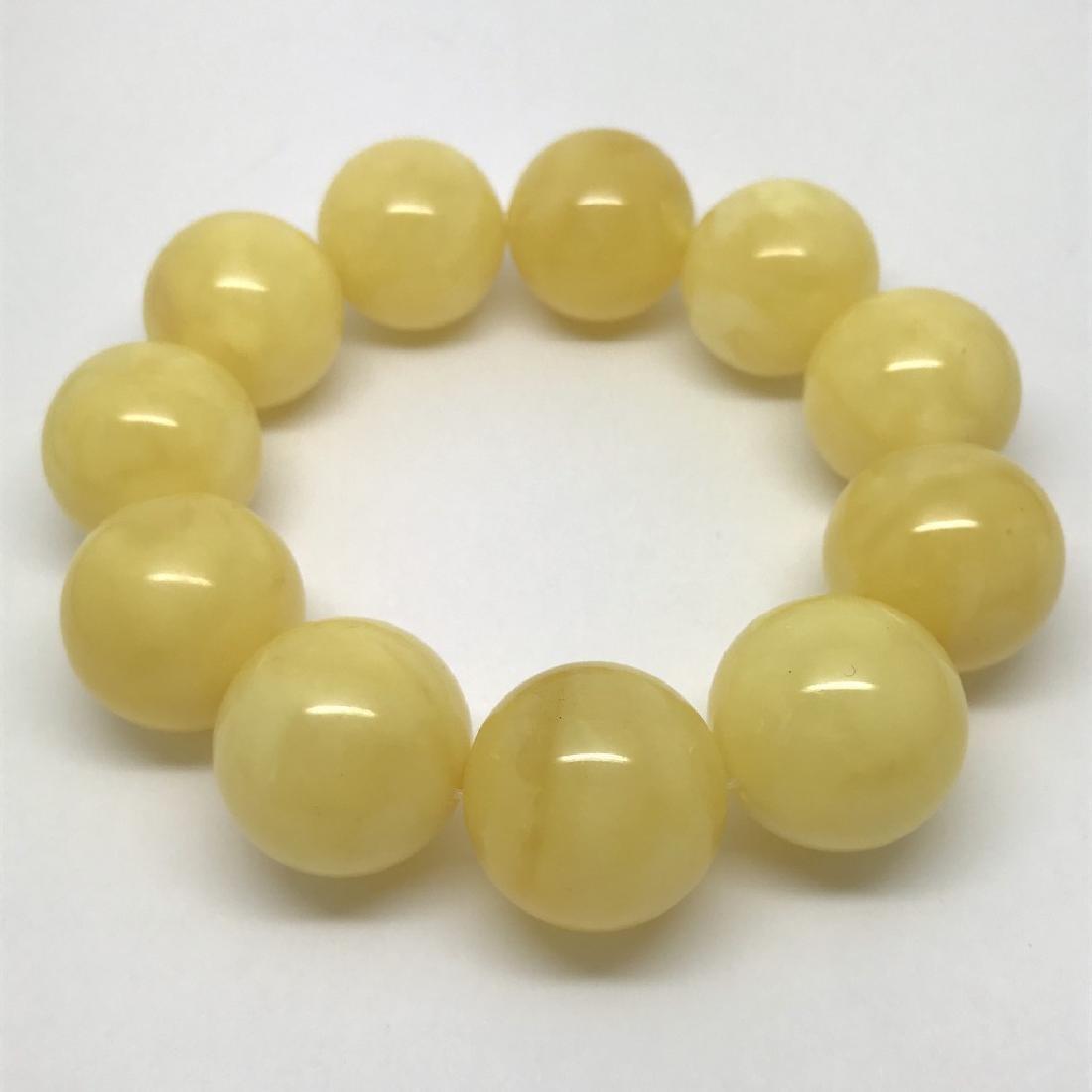 Baltic amber Bracelet 47g big butter beads ø19.6mm - 4