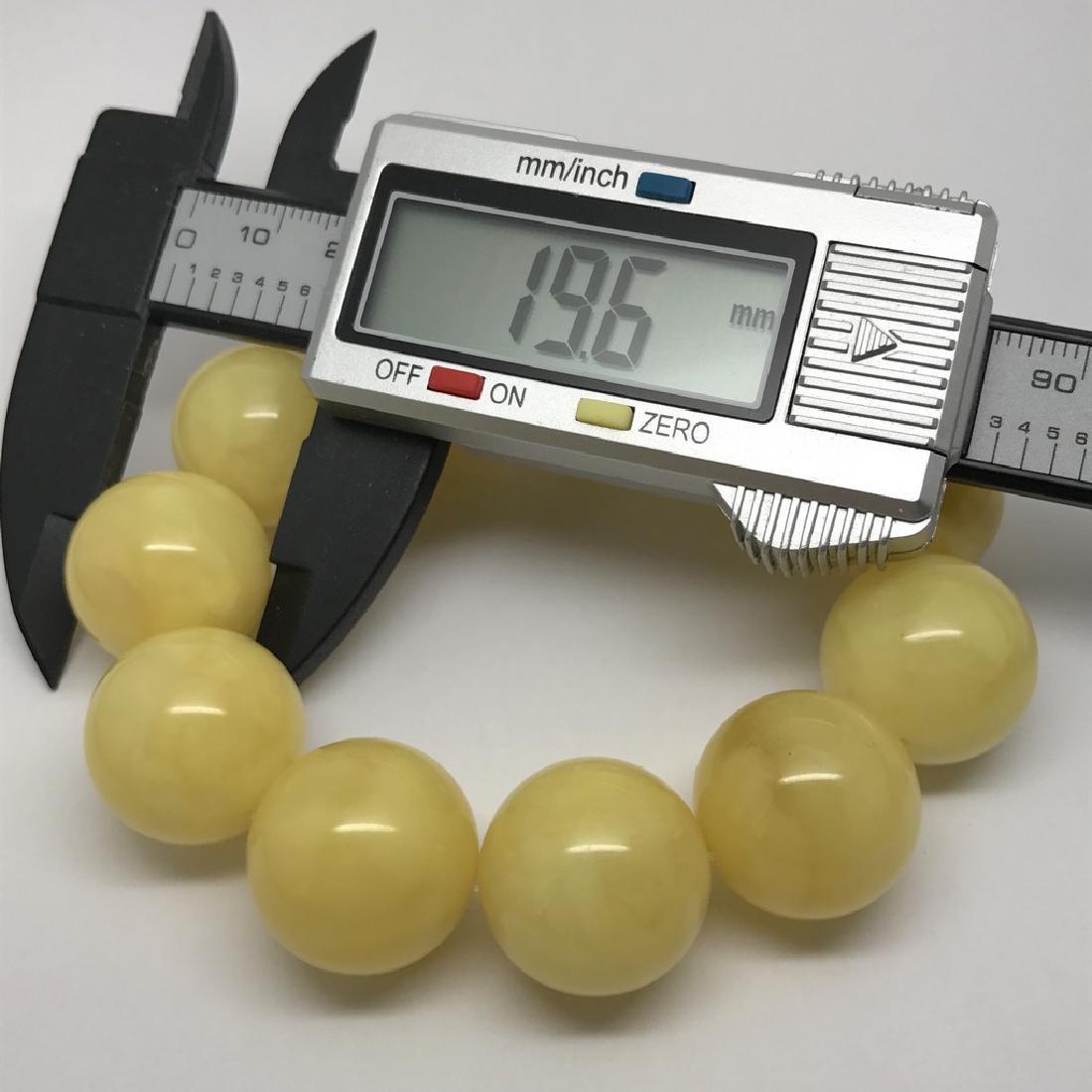 Baltic amber Bracelet 47g big butter beads ø19.6mm - 5