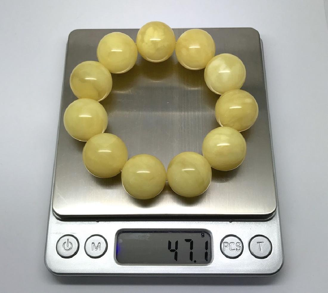 Baltic amber Bracelet 47g big butter beads ø19.6mm - 7