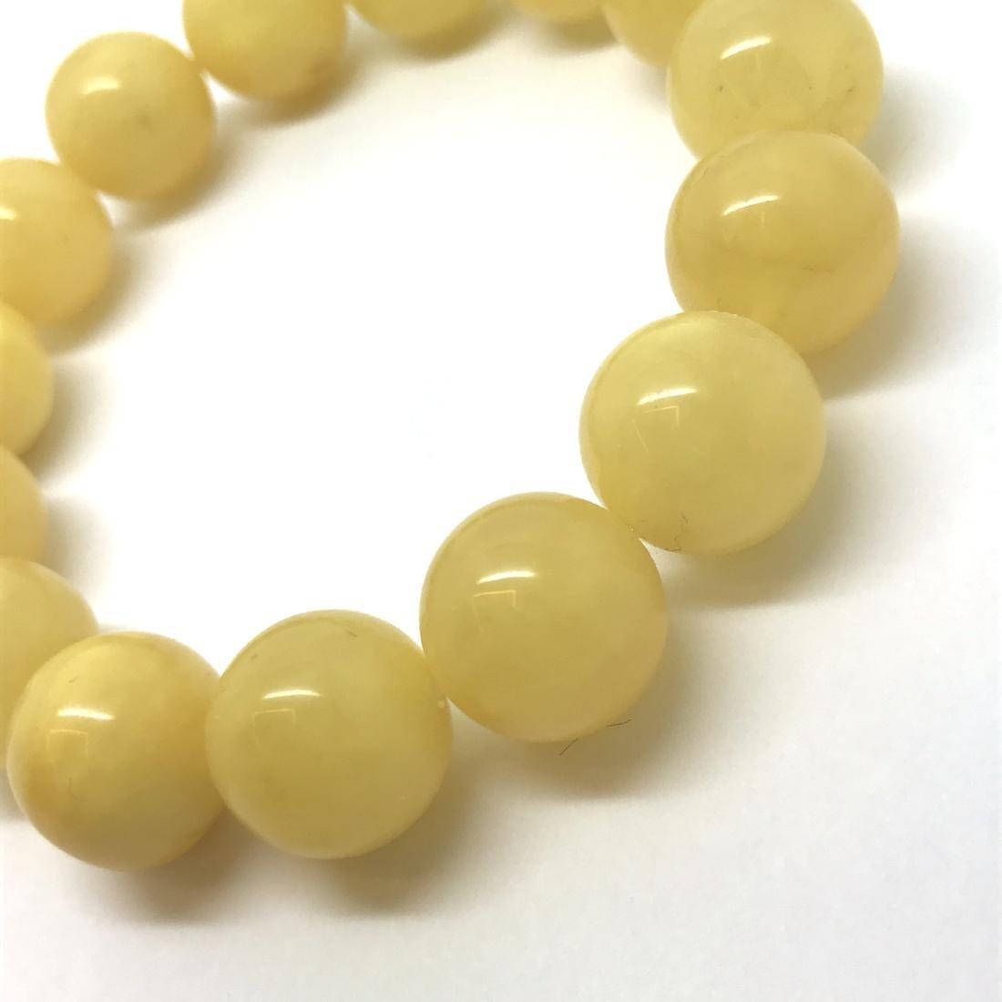 Bracelet Baltic amber butter yellow beads ø13mm  18.5 - 4