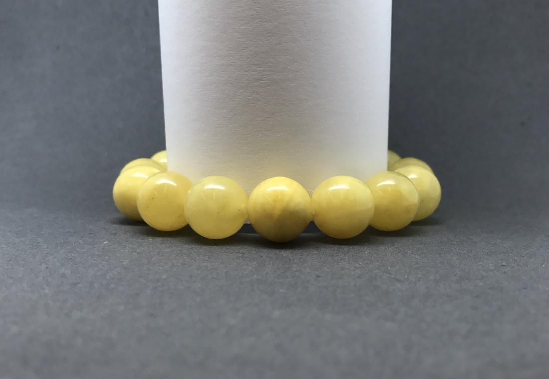 Bracelet Baltic amber butter yellow beads ø13mm  18.5 - 6