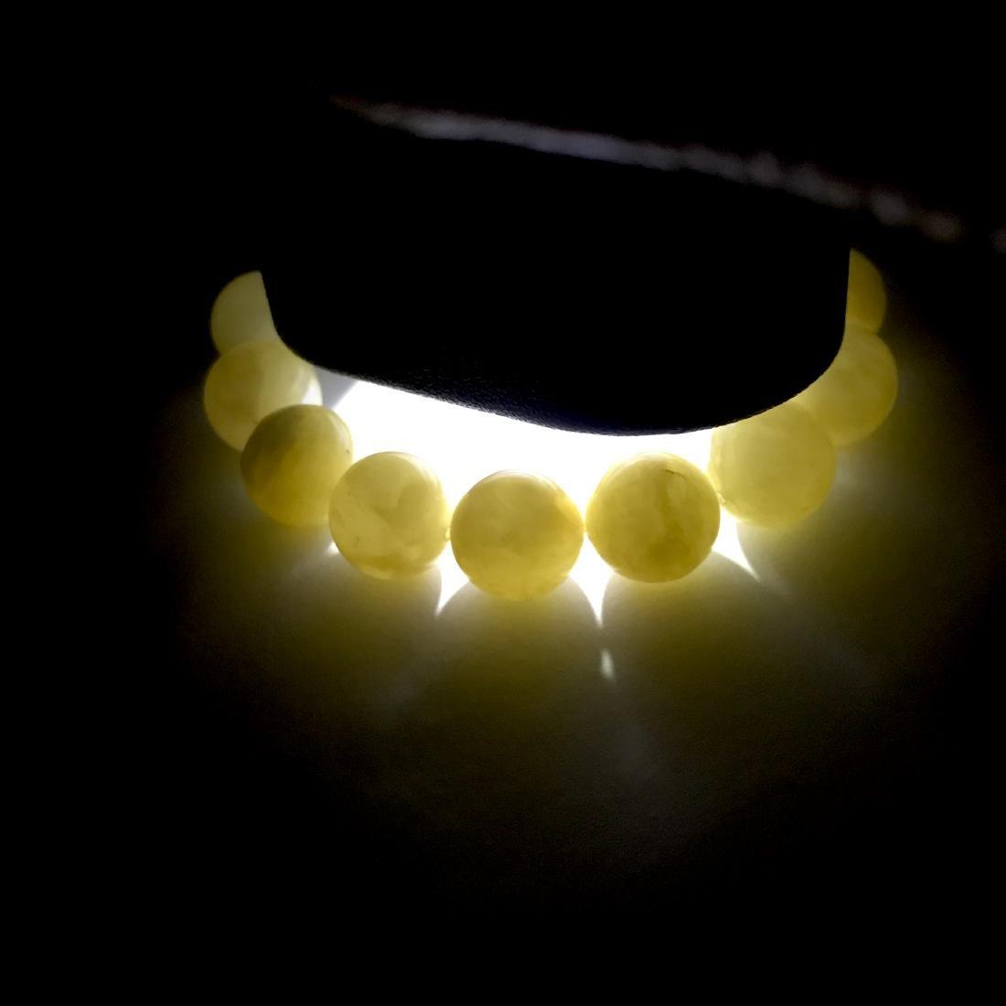 Bracelet Baltic amber butter yellow beads ø13mm  18.5 - 8