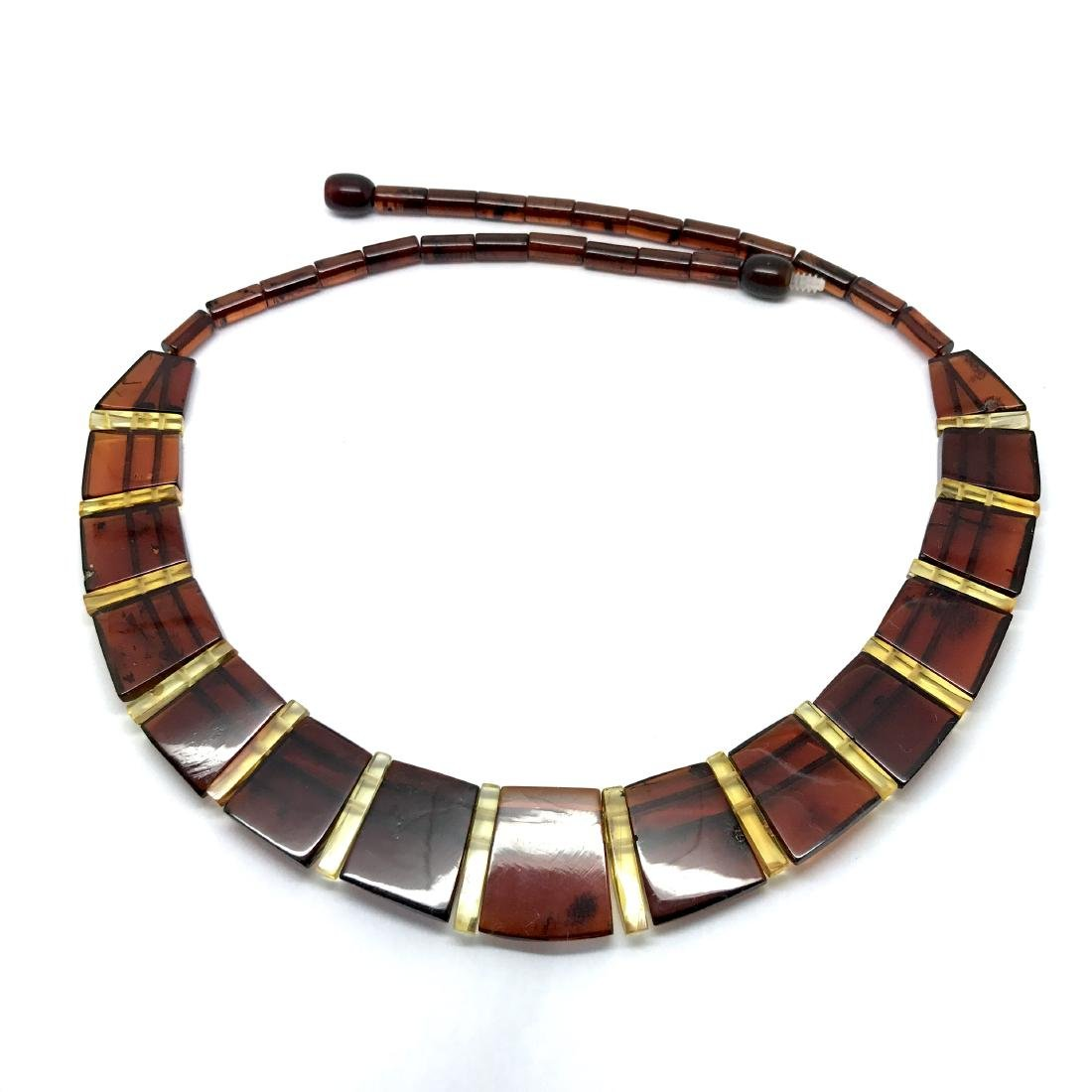 Wide collar Baltic amber cherry&honey necklace 20mm x - 9