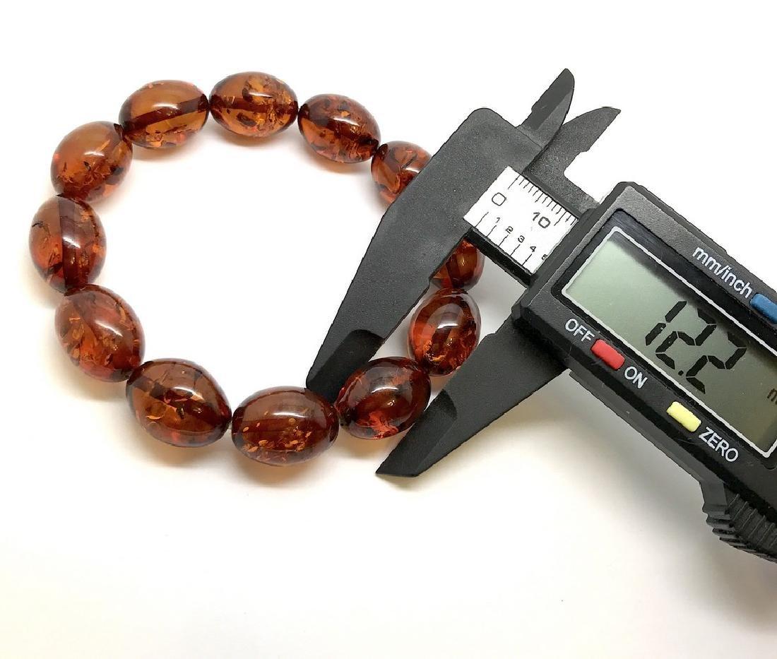 Bracelet Baltic amber cognac olive shape 17 gr - 5