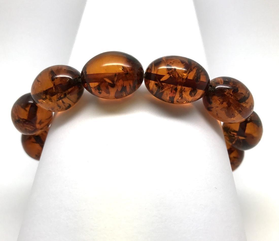 Bracelet Baltic amber cognac olive shape 17 gr - 9