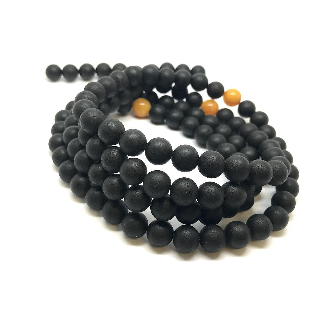 Japa mala luck necklace old Baltic amber beads - 5