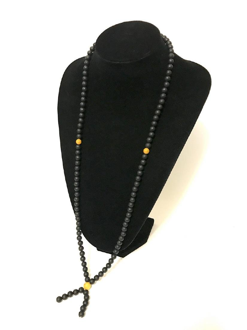 Japa mala luck necklace old Baltic amber beads - 8