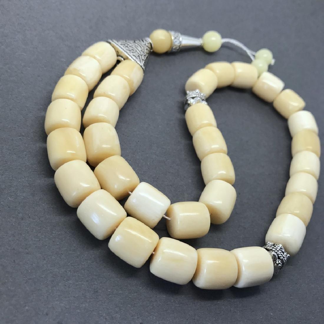 Tesbih rosary 33 Baltic amber beads barrel 12x13mm 75 - 2