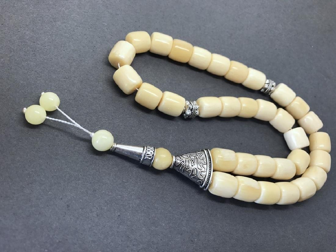 Tesbih rosary 33 Baltic amber beads barrel 12x13mm 75 - 3