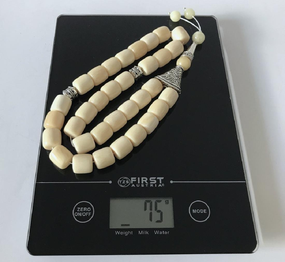 Tesbih rosary 33 Baltic amber beads barrel 12x13mm 75 - 5