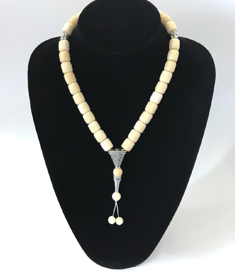 Tesbih rosary 33 Baltic amber beads barrel 12x13mm 75 - 6