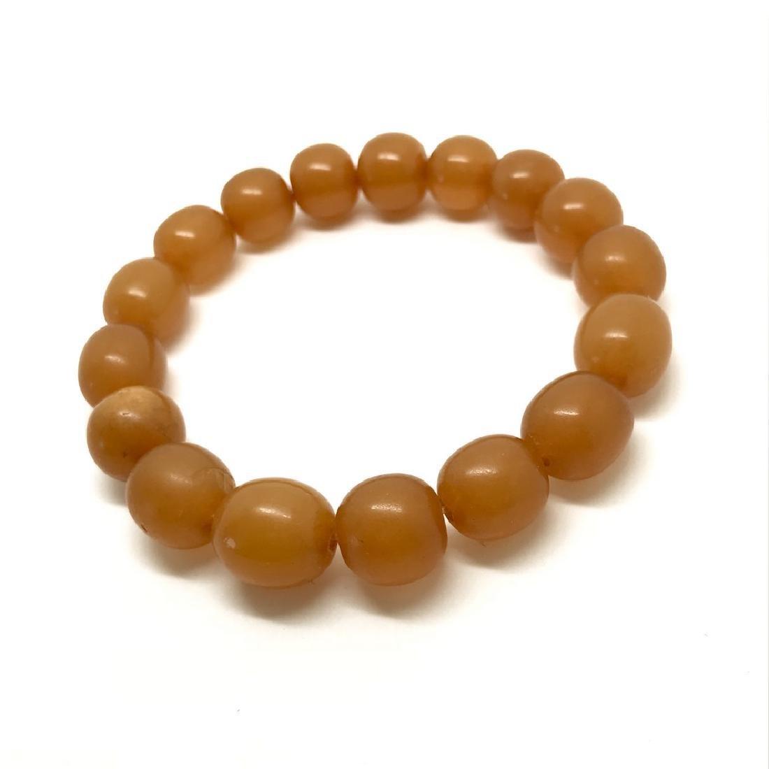 Vintage bracelet Baltic amber butterscotch beads - 2
