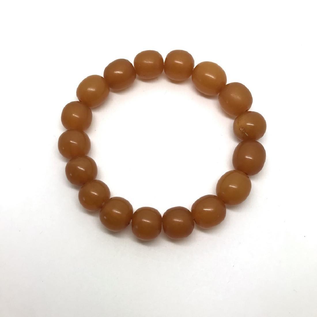 Vintage bracelet Baltic amber butterscotch beads - 7