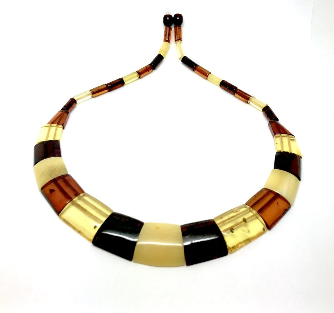 Wide Baltic amber collar necklace 20mm 46cm 20.8 grams