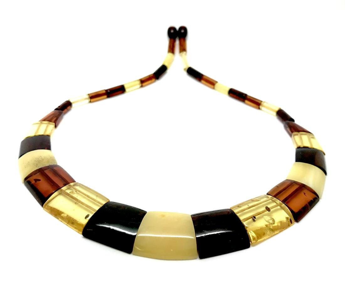 Wide Baltic amber collar necklace 20mm 46cm 20.8 grams - 2