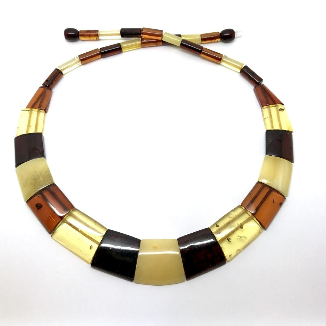 Wide Baltic amber collar necklace 20mm 46cm 20.8 grams - 3