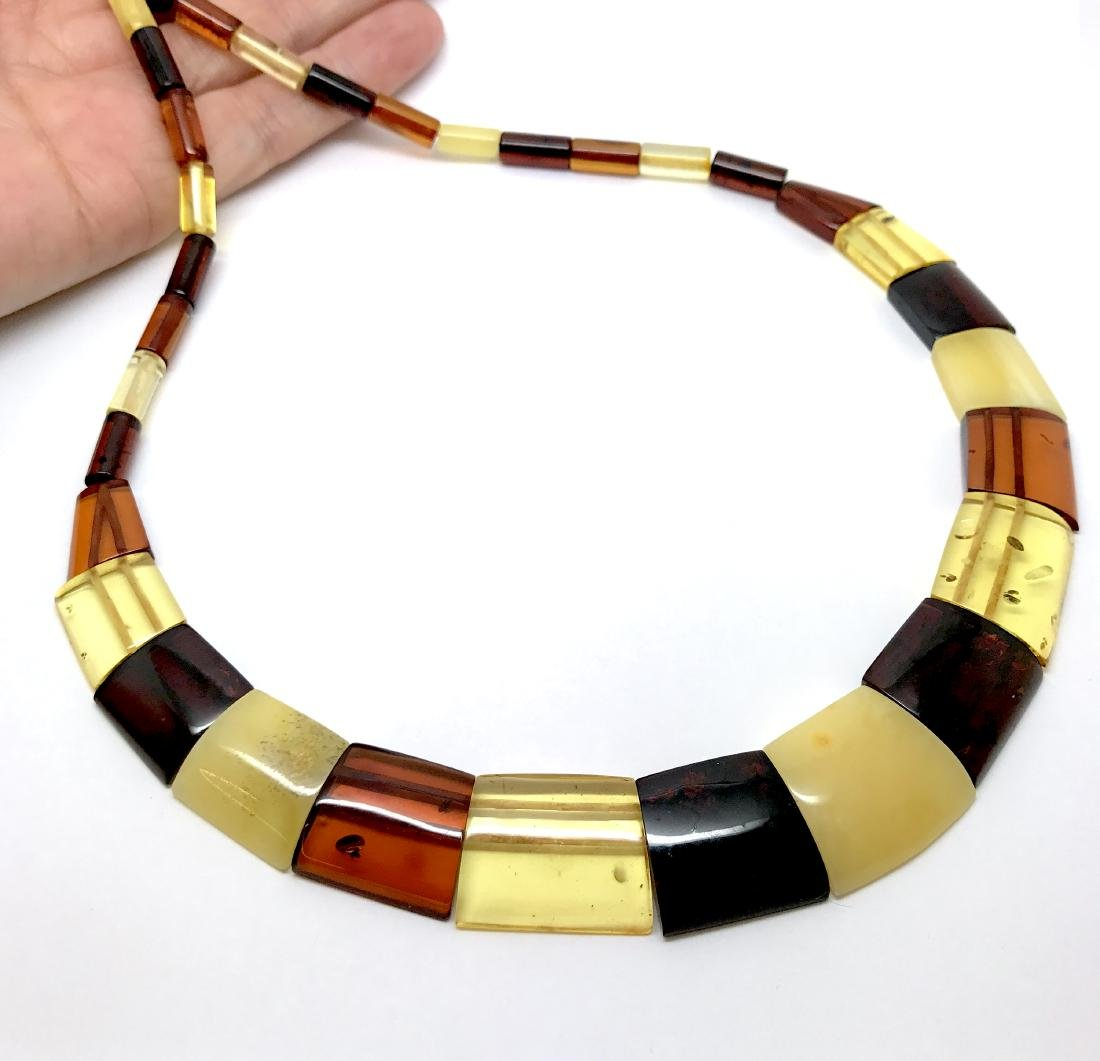 Wide Baltic amber collar necklace 20mm 46cm 20.8 grams - 4
